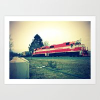 Art Print featuring Tacoma Rail by Vorona Photography