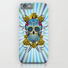 Sugar skull- Day of the dead- blue iPhone 6 Slim Case