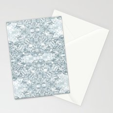 Lace Geometric // Kaleidoscope of blues Stationery Cards