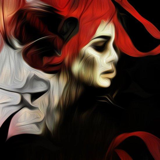 portrait of sadness Art Print