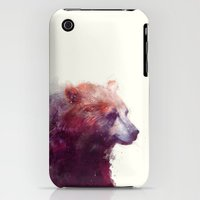 iPhone 3Gs & iPhone 3G Cases featuring Bear // Calm by Amy Hamilton