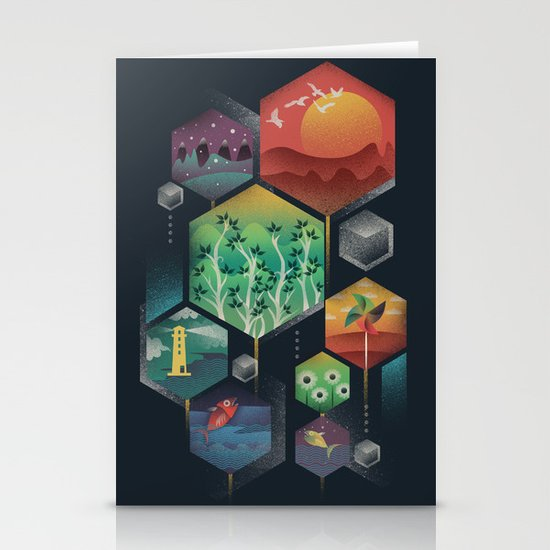 Geometrical Wonders Stationery Card