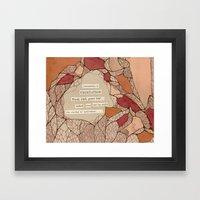 Vegetation Framed Art Print