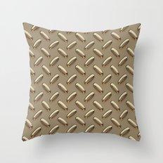 Diamond Plate Throw Pillow