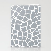 Mosaic Zoom Grey Stationery Cards