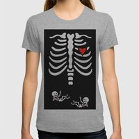 Skeleton Twins Womens Fitted Tee Athletic Grey SMALL