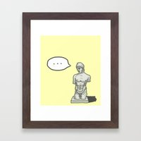Something wrong with your body Framed Art Print