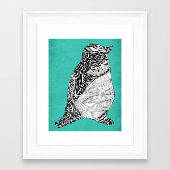 Tribal Penguin Framed Art Print