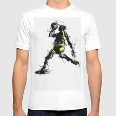 Anti gravity SMALL White Mens Fitted Tee