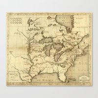 Great Lakes Map - 1737 Canvas Print