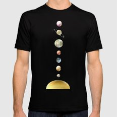solar system SMALL Mens Fitted Tee Black