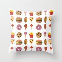 Junk Food Throw Pillow