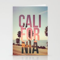 california Stationery Cards featuring CALIFORNIA by Kris James