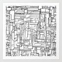 Electropattern(B&W) Art Print