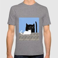 Frisky the Cat Mens Fitted Tee Tri-Grey SMALL