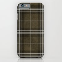 Grungy Brown Plaid iPhone 6 Slim Case