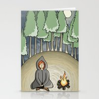 Campfire Girl Stationery Cards