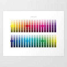 Color Grid Art Print