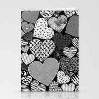 Love Hearts Doodle Art P… Stationery Cards