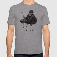 Grilla Mens Fitted Tee Athletic Grey SMALL