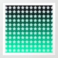 You're A Star! Green And… Art Print