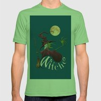 Witches Mens Fitted Tee Grass SMALL