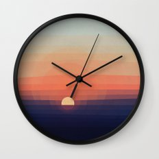 Colors Sunset Wall Clock