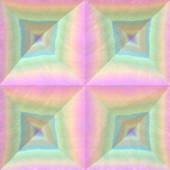 Geometric Pastels Art Print