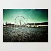 Paris Wheel II Canvas Print
