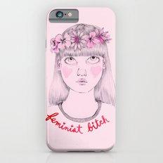 Floral Feminist Bitch iPhone 6 Slim Case