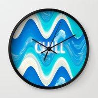 CHILL BEACH WAVE Wall Clock