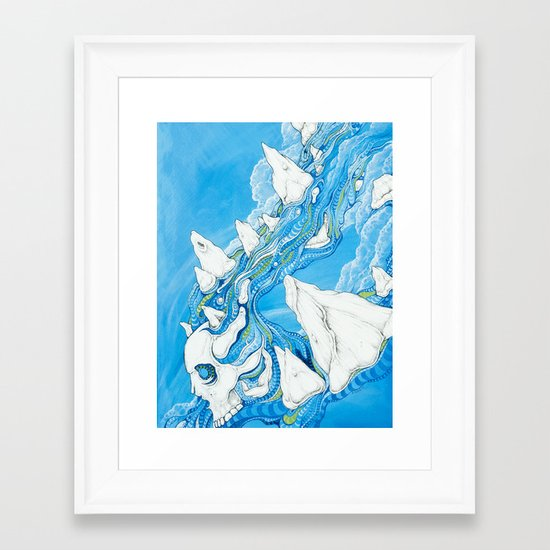 Losing Form Framed Art Print