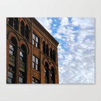 Corner of Main St. & Sky Canvas Print