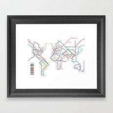 World Metro Subway Map Framed Art Print