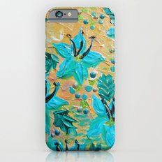BLOOMING BEAUTIFUL - Modern Abstract Acrylic Tropical Floral Painting, Home Decor Gift for Her iPhone 6s Slim Case