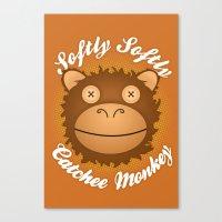 Softly Softly Catchee Monkey Canvas Print