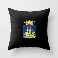 Coat Of Arms Of IJlst Throw Pillow