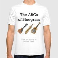 The ABCs Of Bluegrass Mens Fitted Tee White SMALL