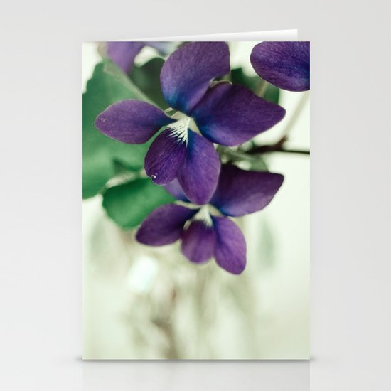 Sweet Violet Stationery Card