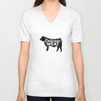 Delicious Meat Unisex V-Neck