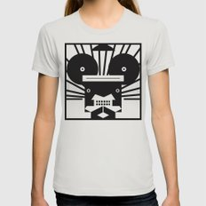 0002 Womens Fitted Tee Silver SMALL