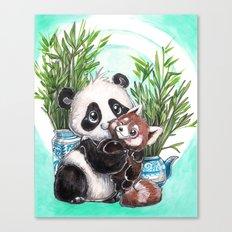 Panda red panda Canvas Print