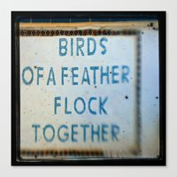 Let's Flock Canvas Print