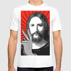 Jesus Bane #00 Mens Fitted Tee White SMALL