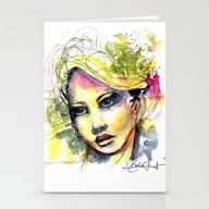 Abstract Watercolor Port… Stationery Cards