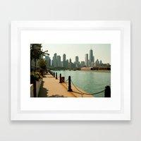 lake shore Framed Art Print