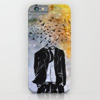 iPhone & iPod Case featuring Man-Birds by Fhil Navarro