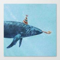 Party Whale  Canvas Print