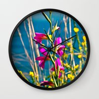 FLOWERS of SICILY Wall Clock