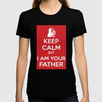 Keep Calm Womens Fitted Tee Black SMALL